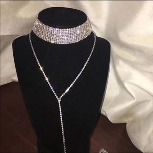 Jewelry - Silver Rhinestone Choker